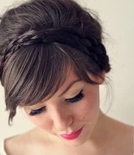 Uniwigs Hair Braids Braided Headband Dark Brown Color Y-4c with Clips for Fashion Women By Appearanz