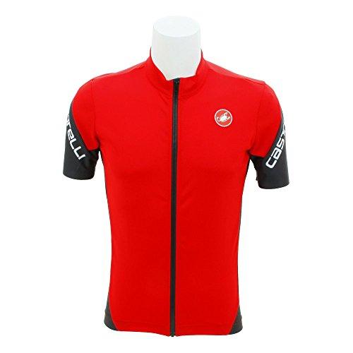 Castelli 4518010, Camiseta Manga Corta Hombre, Hombre, C4518010, Rojo, Large
