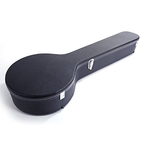 Lykos Microgroove Pattern Leather Wood Banjos Case Black (5/6-String)