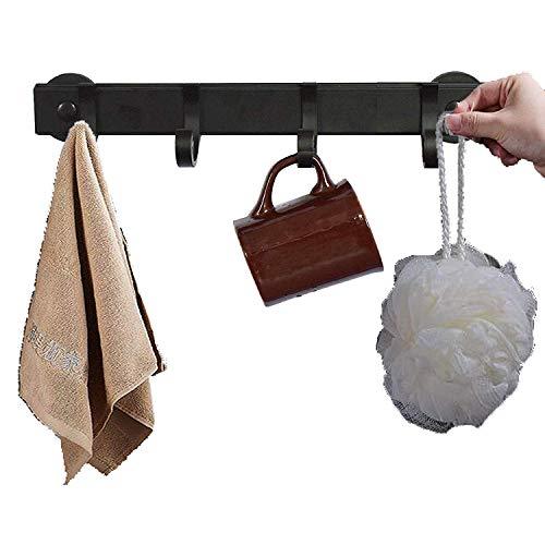 Soporte magnético de metal sólido, barra de cocina con 4 ganchos, estante de utensilios para tapa de olla, espátula, ganchos de cocina para utensilios, organizador de barra de cocina, para colgar