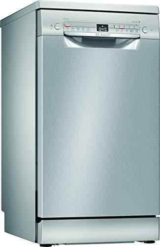 Bosch SPI25CS03E Serie 2 Geschirrspüler Teilintegriert / A+ / 45 cm / Edelstahl / 220 kWh/Jahr / 9 MGD / SilencePlus / Extra Trocknen / VarioBesteckkorb