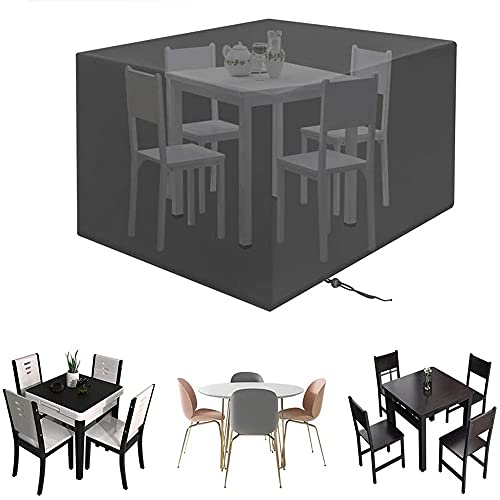 2021Funda Para Muebles De Jardín,Copertura Impermeable Para Mesas Rectangular,Cubierta De Exterior Funda Protectora Muebles Mesas Sillas Sofás Exterior 600D Oxford(Size:270x180x89cm ,Color:negro)