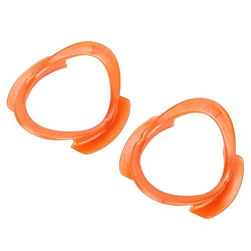 Niunion Abridor de Boca, 10 Uds abridor de Boca en Forma de O, abridor de Labios en Forma de O, Retractor de mejillas para blanquear los Dientes(Naranja)
