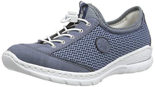 Rieker Damen Frühjahr/Sommer N22M6 Slipper, Blau (Jeans/Bleu/Bleu-Silver/ 14 14), 39 EU