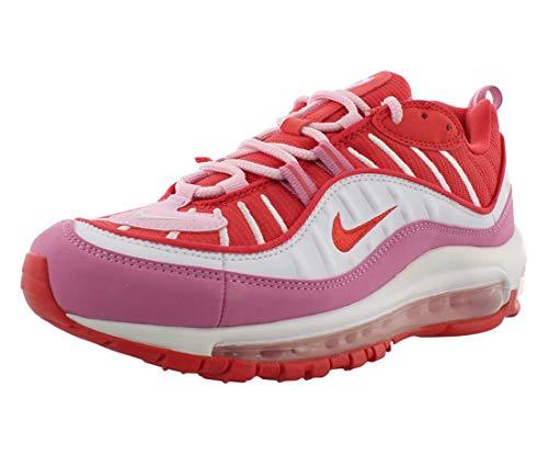 Nike Damen W AIR MAX 98 Laufschuh, Track Red Track Red Magic Flamingo White Pink Foam, 42.5 EU