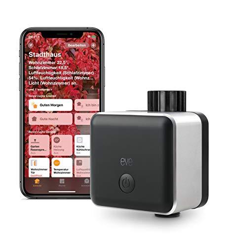 Eve Aqua - Smarte Bewässerungssteuerung per Home App, mit Zeitplänen automatisch bewässern, Siri, einfache Bedienung, Fernzugriff, keine Bridge, Bluetooth, HomeKit
