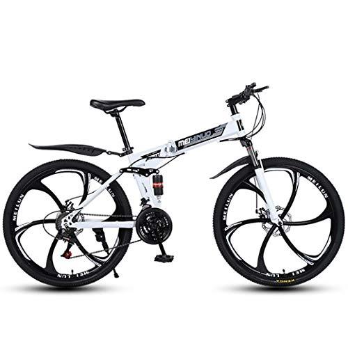 26 Inch 27-Speed Mountain Bike voor volwassenen, lichtgewicht Full Suspension Frame, verende voorvork, schijfrem