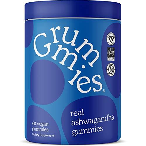 Grummies Ashwagandha Gummies - Real Superfood Gummies - IGEN Non-GMO Tested & Vegan Certified - 60 Vegan Ashwagandha Gummies