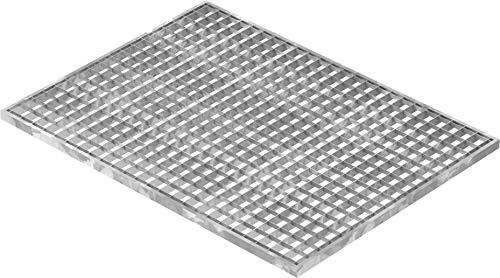 Fenau | Garaje piso Rejilla de acero Dimensiones: 590 x 790 x 20 mm - MW: 30 mm / 30 mm (galvanizado en caliente) (Apto para marco: Fenau 600 x 800 x 23 mm)