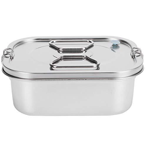 Recipientes de preparación de comidas divididos - Bandejas de almacenamiento de alimentos de acero inoxidable 304 con tapas - Aptas para microondas, congelador y lavavajillas - Fiambreras Bento apilab