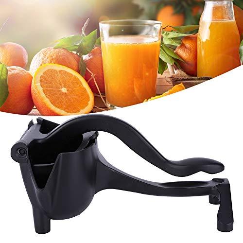 Handmatige juicer, aluminium draagbare huishoudelijke handmatige oranje citroenpers Juicer Knijp keukengereedschap(Zwart)