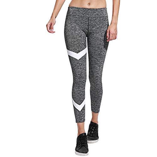 AHUIOPL Vrouwen streep oefening om billen op te heffen hoge taille strakke yoga broek broek push up sport jogging trainning fitness legging