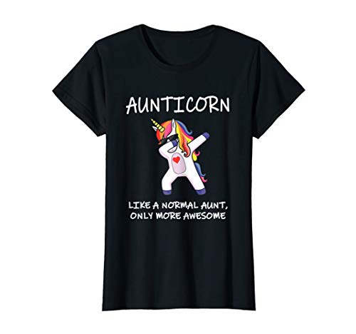 Womens Womens Aunticorn T-Shirt I Awesome Aunt Unicorn I Family Sh