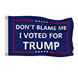 Shmbada 3x5 Foot Don't Blame Me I Voted for Trump Flag with Brass Grommets, Premium Polyester Double Stitched Vivid Color Anti Fading, Outdoor Indoor Yard House Porch Flag, 3 x 5 Ft