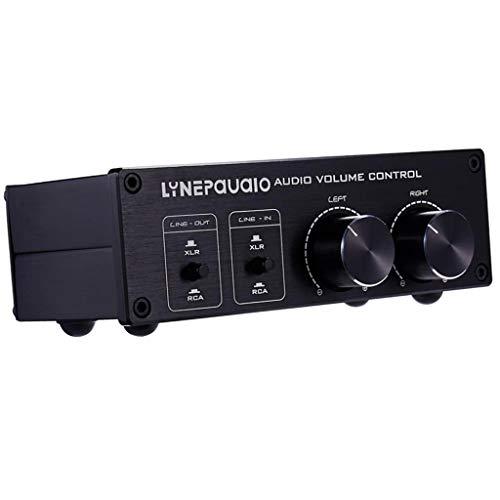 MERIGLARE Adaptador Convertidor de Audio con Control de Volumen de Audio de 2 Entradas Y 2