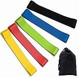TEFIRE Bandas Elasticas Fitness y Bolsa Almacenamiento 5 Piezas Bandas de Resistencia para Yoga Pilates Estiramientos Musculacion Piernas Glúteos Brazos Fuerza (600)