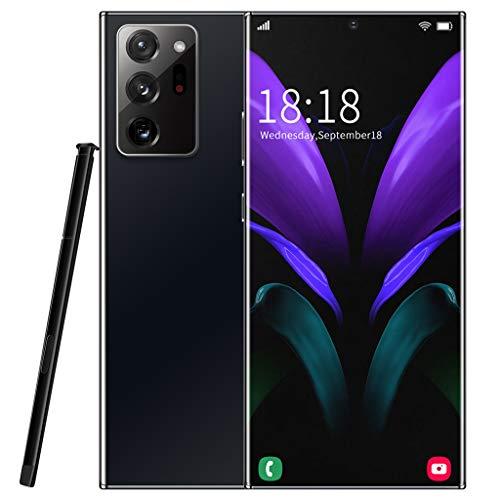 PNAYK Note20U Smartphone Ohne Vertrag, Android 10 Handy mit AI Quad Kamera, 6.9 Zoll Dot Drop Anzeige, 128GB Speicher Günstiges, 5000mAh großer Akuu, Deutsch Version,Schwarz