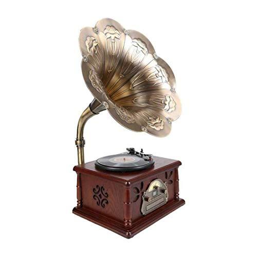 LDGS&TTW Reproductor de grabación de Estilo Vintage de conexión inalámbrica, para grabación de MP3 USB SD fonógrafo con diseño único Moderno Sala de Estar a Domicilio