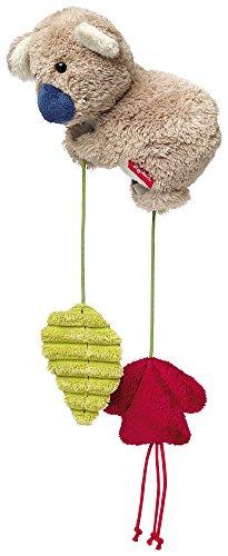 sigikid, Mädchen und Jungen, Aktiv-Anhänger mit Rassel, Koala, Grau/Grün/Rot, 41035