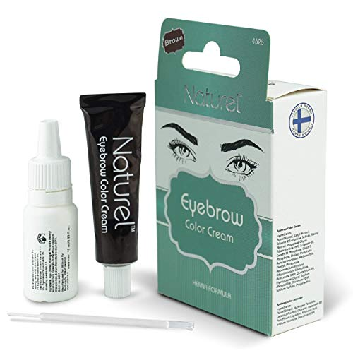 Eyebrow Dye Kit - Dark Brown – Fast and Safe Results, Professional Semi Permanent Eyebrow Tint...