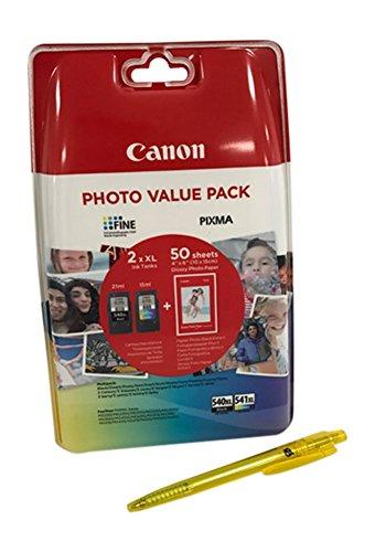 Canon - 2 cartucce inchiostro originali nero e colore XL per Canon Pixma MX525 525 MX395 395 MX455 455 (XL Black/XL Color)