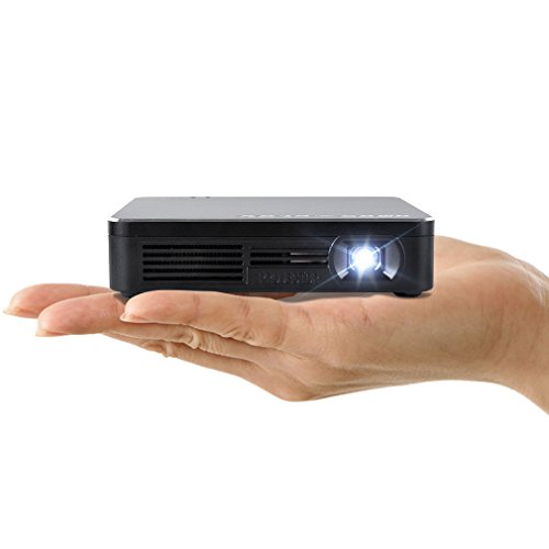 Amaz-Play Mobile Pico Projector WIFI DLP Portable Mini Pocket Size Multimedia Video LED Gaming Projectors with 120 Display,120-M