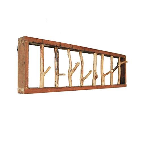Wall Mounted Shelf, Creative Boomtak Kapstok, decoratieve Planken Wall Hanger Hook for Corridor, 60 * 20cm 418 (Size : 80 * 20cm)