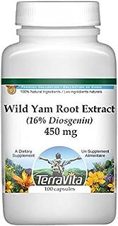 Wild Yam Root Extract (16% Diosgenin) - 450 mg (100 Capsules, ZIN: 514291)