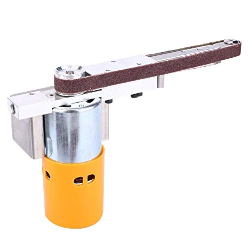 【】 Lijadora de mano Máquina pulidora DIY Mini lijadora de banda eléctrica...