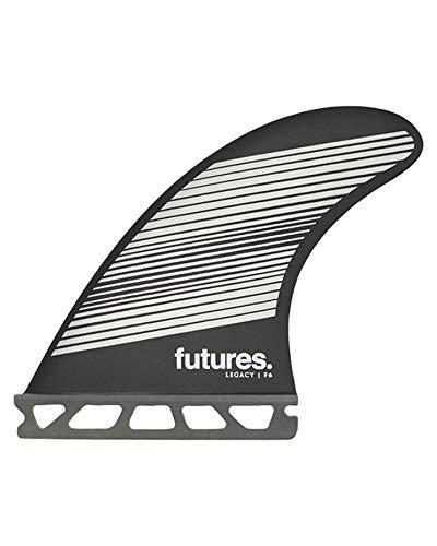 Futures F6 Legacy Quad. Juego de quillas para tabla de surf, color gris y negro