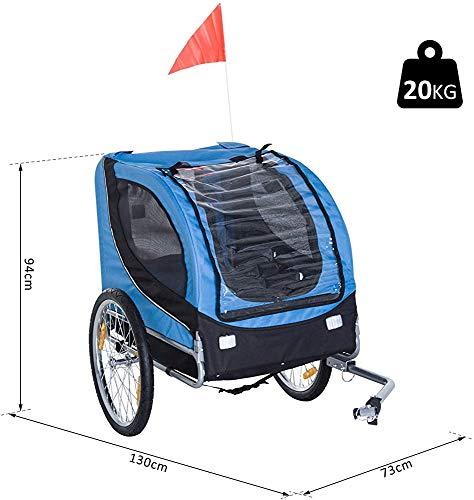 Fahrrad Hunde mit Deckel und Aufhängung Stahl Fahrradanhänger Kit Jogging,Blue