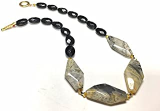 ONYX AND LACE AGATE NECKLACE