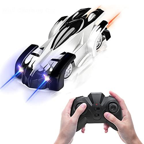 Fivejoy Macchina Telecomandata per Bambini, Auto Acrobatiche Rotanti a 360°, Luci a LED per Arrampicata su Parete RC Auto, Giocattoli Gadget Regali per Bambini Ragazzi Ragazze 3-12 Anni