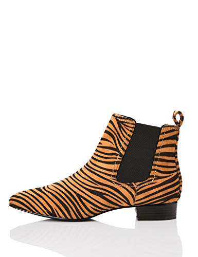 find. Simple Chelsea Boots, Braun Tiger), 36 EU