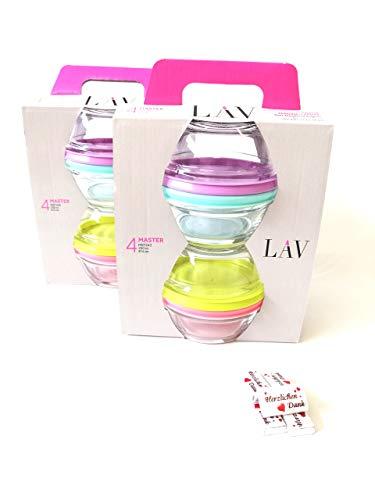 8 Stück Glasschalen Glasschüssel Glasbehälter Frischhaltedosen mit Deckel Set Master 250ml plus 5 x Danke Schokoladen Stückchen