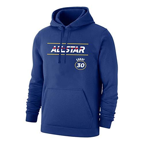 OKMJ Stephen Sudadera con capucha para hombre, 2021 All-Star Warriors Basketball Pullover Fans Impresión Suelta Casual Manga Larga Sudadera Tops, Negro/Azul S-3XL Azul-S
