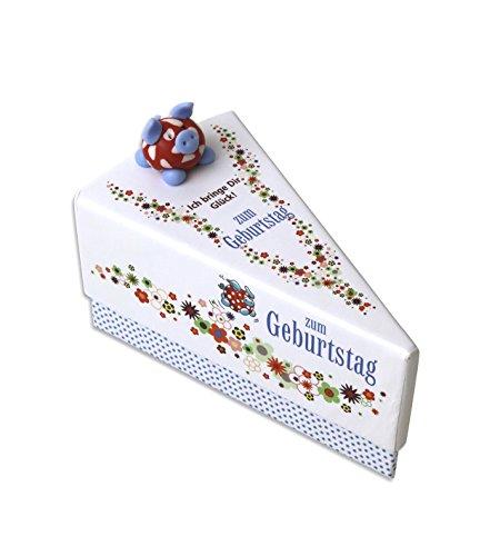 1 Geschenkschachtel Geldgeschenk kleine Geschenke Zum Geburtstag Tortenstück ca. 9 x 11,5 x 6,5 cm