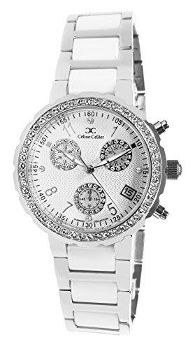 Céline Cellier Damen-Armbanduhr Analog Quarz Edelstahl Diamanten - 12001WG