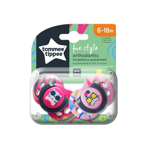 Tommee Tippee Closer to Nature - Chupetes para bebes entre 6 y 18 meses (pack de 2) surtido: colores/modelos aleatorios