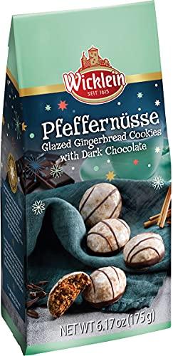 Wicklein Pfeffernusse Glazed Gingerbread With Dark Chocolate Bag, 6.17 oz
