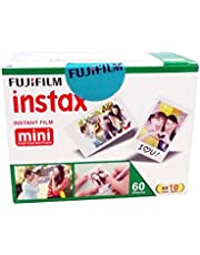 Fujifilm Instax Mini Picture Format Film - Value Pack 60 Shots Films (White)