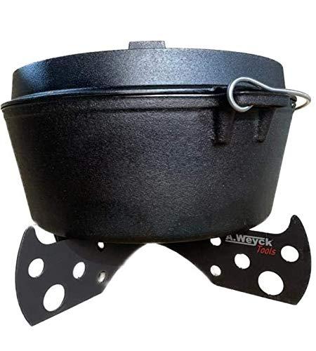 A. Weyck Tools Dutch Oven Gestell Camper Untergestell Halter Untersetzer Outdoor Höhe: ca 8cm ø: 42cm 3mm Stahl #58