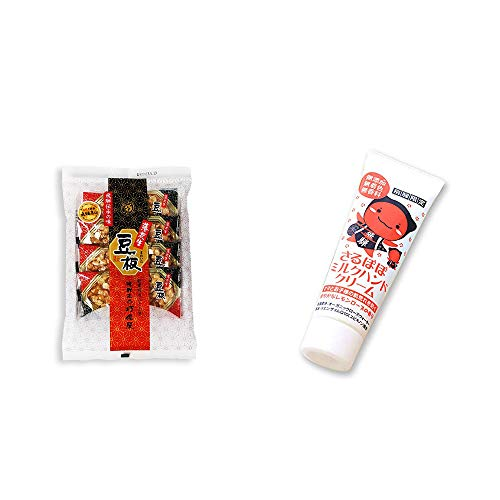 [2点セット] 飛騨銘菓「打保屋」の駄菓子 豆板(8枚入) ・さるぼぼ ミルクハンドクリーム(50g)