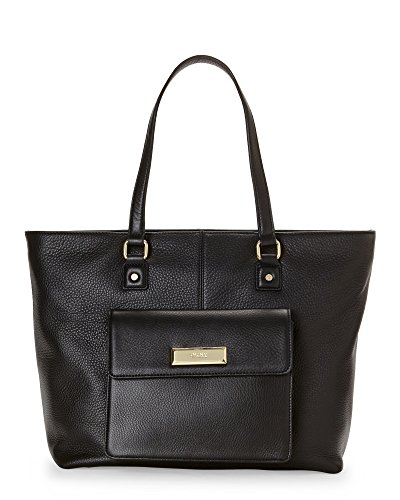 DKNY Soft Ego Leather N/S Tote, Black