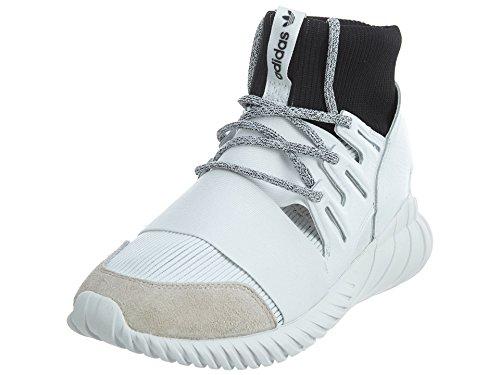 adidas Men's Tubular Doom Footwear White/Core Black High-Top Fashion Sneaker - 13M