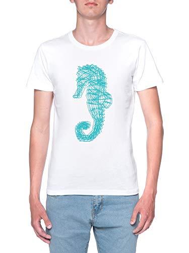 Seepferdchen Camiseta Niño Niña Niños Blanco T-Shirt Boys Girls Kids White