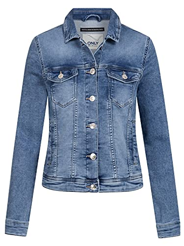 ONLY Female Jeansjacke Washed 40Light Blue Denim