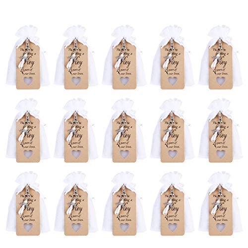 HEALLILY 15 Set DIY Angel Llavero Set Angel Colgante Souvenir Llavero Transparente Cordón Bolsas Colgantes Tarjeta de Etiqueta para Niños Niños