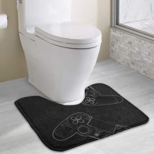 heefan Consola de Juegos Teclado Alfombra de baño, Alfombra de baño en Forma de U Alfombra de baño Alfombrilla de baño (40'X 49')