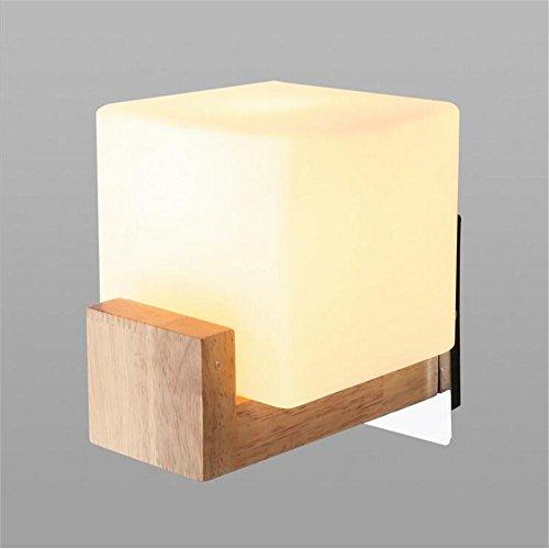 NIHE abat-jour en verre E27 chambre lampe de chevet simple, balcon escalier en bois vivant mur LED
